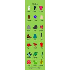 Clothes Bookmark - Elbiseler Kitap Ayracı
