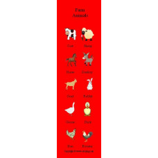 Farm Animals Bookmark - Çiftlik Hayvanları Kitap Ayracı