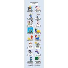 Jobs Bookmark - Meslekler Kitap Ayracı