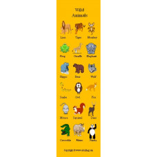Wild Animals Bookmark - Vahşi Hayvanlar Kitap Ayracı